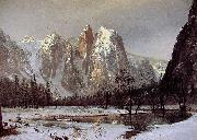 Cathedral Rock, Yosemite Valley Bierstadt