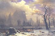 Yosemite Winter Scene Albert Bierstadt