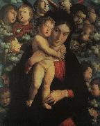 Madonna and Child with Cherubs Andrea Mantegna