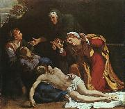 The Dead Christ Mourned Annibale Carracci
