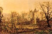 Knostrop Hall, Early Morning Atkinson Grimshaw