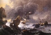 Ships in Distress off a Rocky Coast BACKHUYSEN, Ludolf