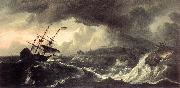 Ships Running Aground in a Storm  hh BACKHUYSEN, Ludolf