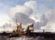 Ships on the Zuiderzee before the Fort of Naarden fgg BACKHUYSEN, Ludolf