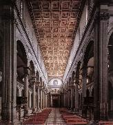 The nave of the church BRUNELLESCHI, Filippo