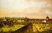 View of Vienna from the Belvedere Bernardo Berlotto