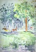 Carriage in the Bois de Boulogne Berthe Morisot