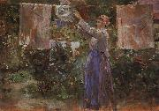 Peasant Hanging out the Washing Berthe Morisot