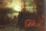 The Trappers' Camp Bierstadt