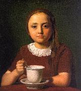 Little Girl with a Cup Constantin Hansen