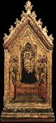 Madonna and Child Enthroned with Angels and Saints dfg DADDI, Bernardo
