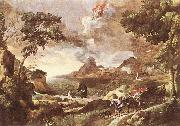 Landscape with St Augustine and the Mystery dfg DUGHET, Gaspard