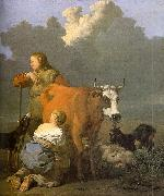Woman Milking a Red Cow ds DUJARDIN, Karel
