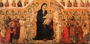 Madonna and Child Enthroned with Angels and Saints Duccio