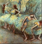 Ballet Dancers in the Wings Edgar Degas