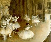 Ballet Rehearsal on Stage Edgar Degas