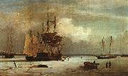 Ships Stuck in Ice off Ten Pound Island, Gloucester Fitz Hugh Lane