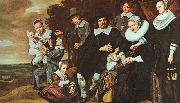A Family Group in a Landscape Frans Hals