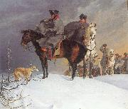 Prussian Cavalry Outpost in the Snow Franz Kruger