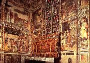 General view of the Baroncelli Chapel sg GADDI, Taddeo