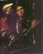 Portrait of Warrior with his Equerry sg Giorgione