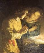 Adoration of the Child (detail) sf HONTHORST, Gerrit van