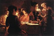 Supper Party qr HONTHORST, Gerrit van