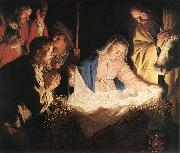 Adoration of the Shepherds  sf HONTHORST, Gerrit van