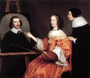Margareta Maria de Roodere and Her Parents sg HONTHORST, Gerrit van