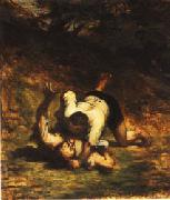 The Thieves and the Donkey Honore  Daumier