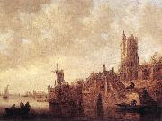 River Landscape with a Windmill and Ruined Castle Jan van Goyen