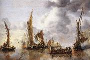 The State Barge Saluted by the Home Fleet Jan van de Capelle