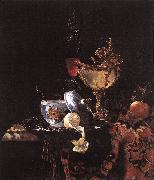 Still-Life with Silver Bowl, Glasses, and Fruit sgy KALF, Willem