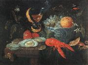 Still Life with Fruit and Shellfish szh KESSEL, Jan van