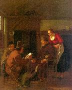 Messenger Reading to a Group in a Tavern Ludolf de Jongh