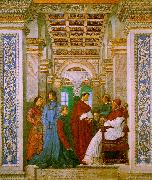 Sixtus II with his Nephews and his Librarian Palatina Melozzo da Forli