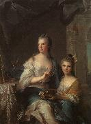 Madame Marsollier and her Daughter sg NATTIER, Jean-Marc