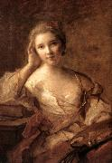 Portrait of a Young Woman Painter sg NATTIER, Jean-Marc