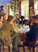The Artists Luncheon Peter Severin Kroyer