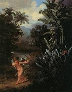 Cupid Inspiring the Plants with Love Philip Reinagle