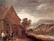 Before the Inn fy TENIERS, David the Younger