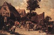 Peasants Dancing outside an Inn wt TENIERS, David the Younger
