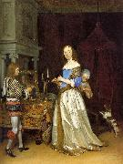 Lady at her Toilette atf TERBORCH, Gerard