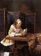 A Lady Reading a Letter eart TERBORCH, Gerard