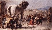 The Procession of the Trojan Horse in Troy e TIEPOLO, Giovanni Domenico