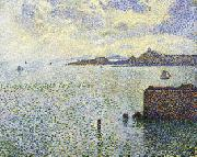 Sailboats and Estuary Theo Van Rysselberghe