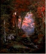 Autumnal Woods Thomas Moran