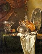 Still Life with Chafing Dish, Pewter, Gold, Silver and Glassware Willem Kalf