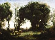A Morning; Dance of the Nymphs(Salon of 1850-1851) camille corot