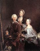 Self-portrait with Daughters sg PESNE, Antoine